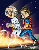Marty and Doc by lordmesa