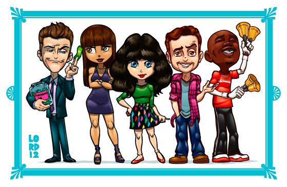 The New Girl Cast by lordmesa
