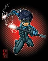 Arkham City: Nightwing by lordmesa