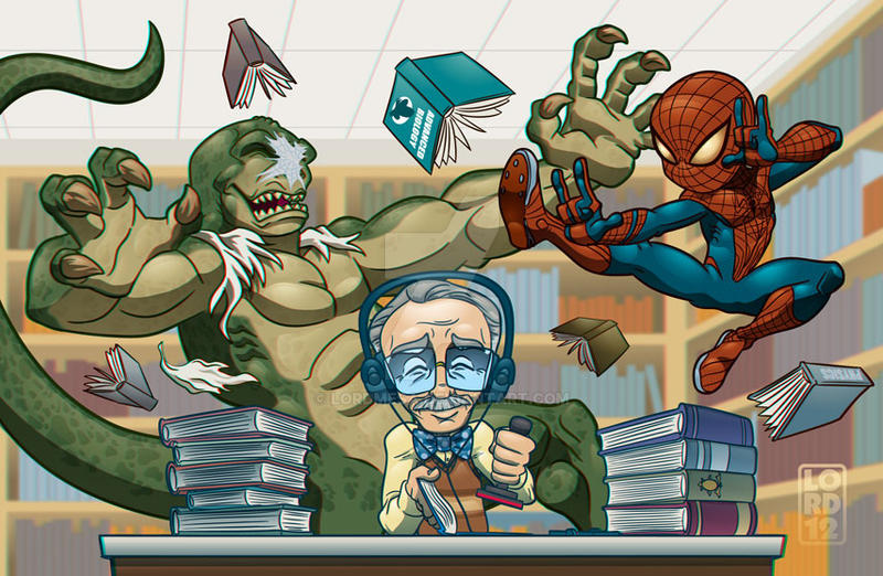 **Spoiler** Lil Spidey Hittin' the Books 3D by lordmesa