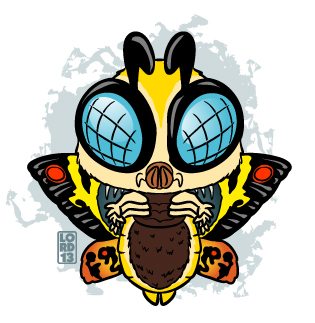 Mothra!!! by lordmesa