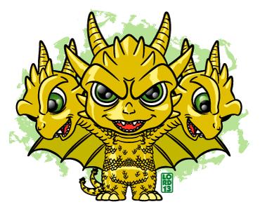 King Ghidora!!! by lordmesa
