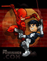 Lil Punisher-Daredevil Commish by lordmesa