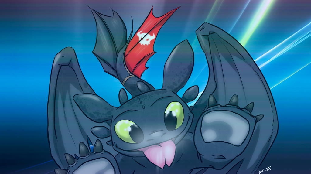 How To Train Your Dragon Not To Lick The Screen By Art