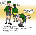 Naughty Cub Scouts Painful fun