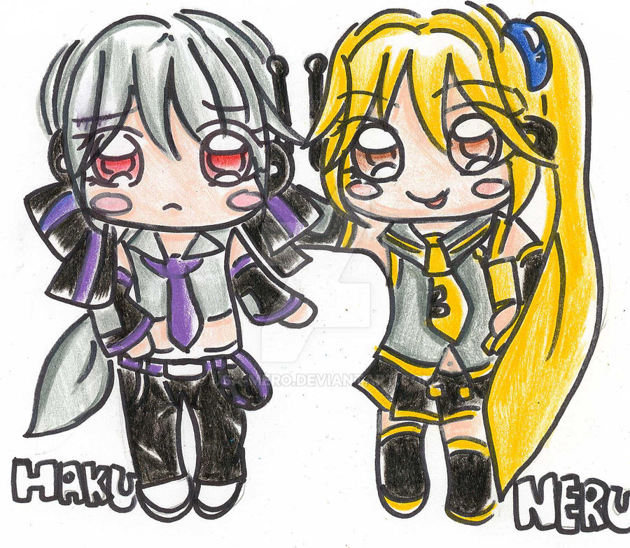 vocaloid chibi neru and haku by usamero on deviantart