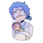 Bby Morty And Young Rick