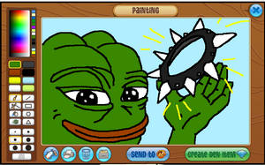 pepe has your spike collar now