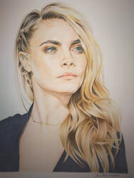 Cara Delevingne, finished drawing!!! by StarGazerSquirrel