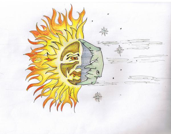 sun and moon tattoos
