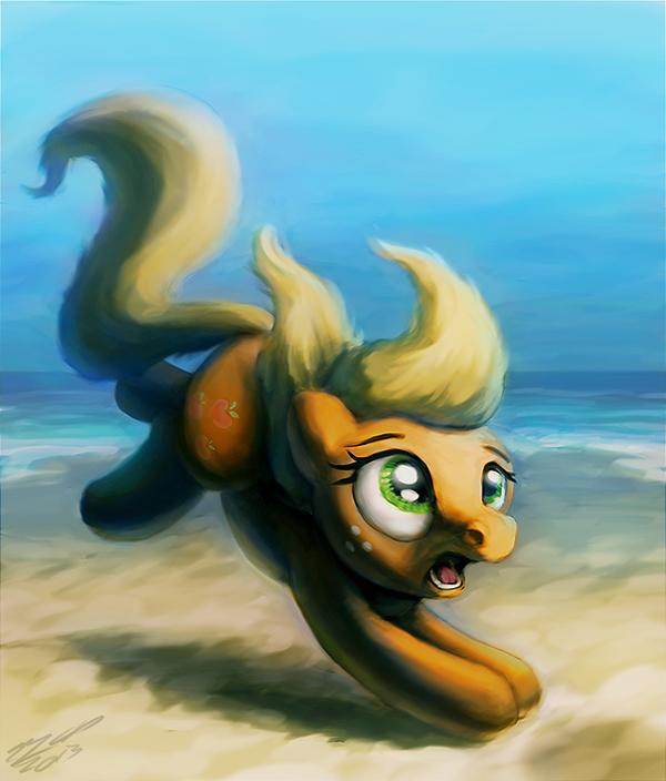Apple on the Beach by AssasinMonkey