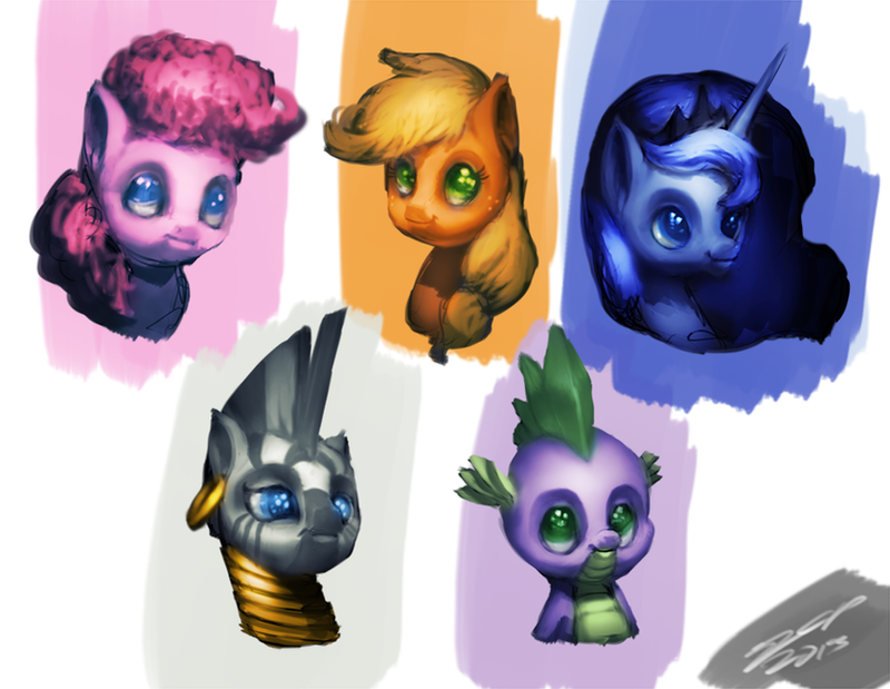 Pony Pony Busts by AssasinMonkey