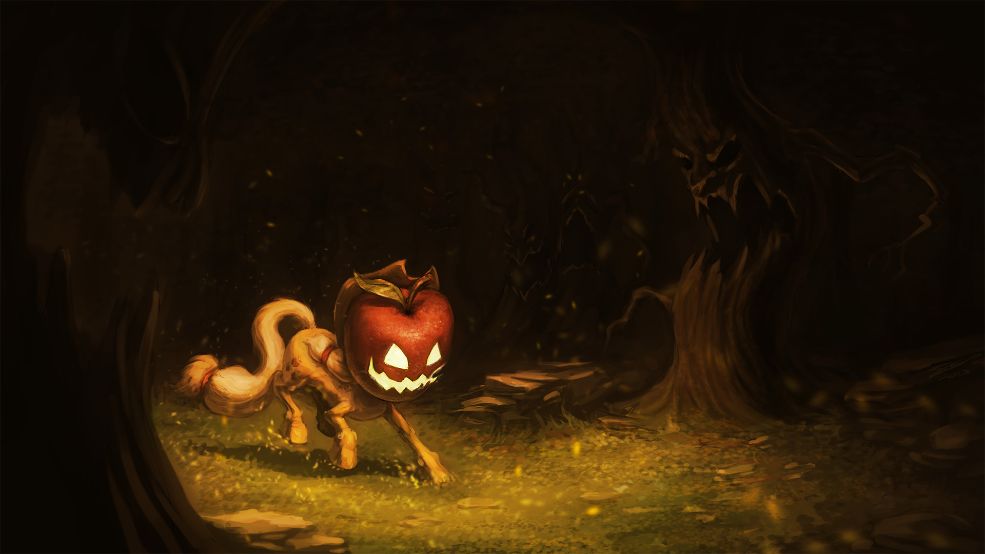 Applejack-O-Lantern by AssasinMonkey