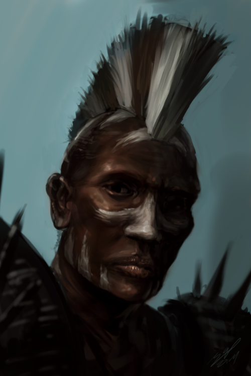 Face anatomy practice #1 - African by AssasinMonkey