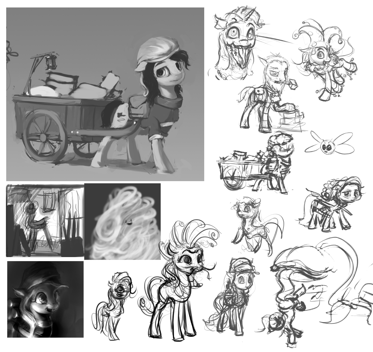 Sketchdump 20141206 #01 by AssasinMonkey