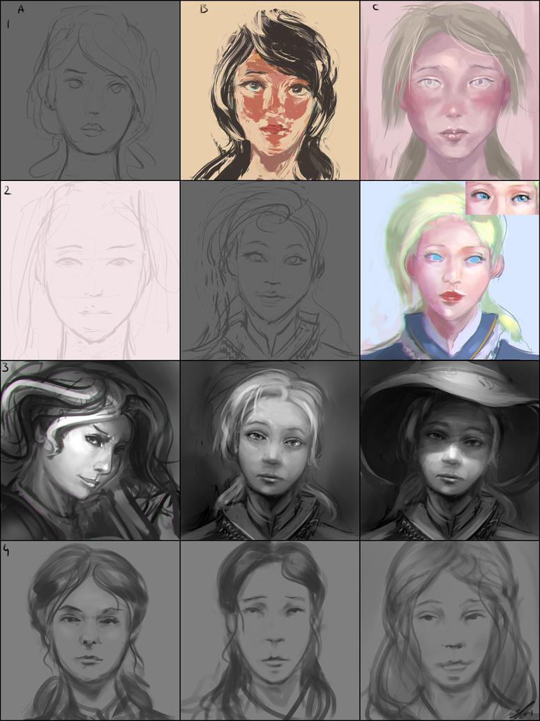 Faces Dec #1 by AssasinMonkey