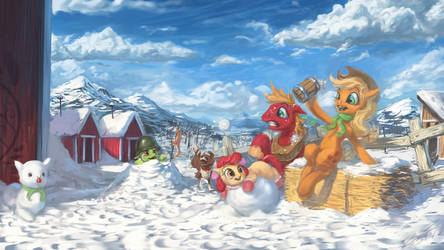 Little Snow Apples by AssasinMonkey