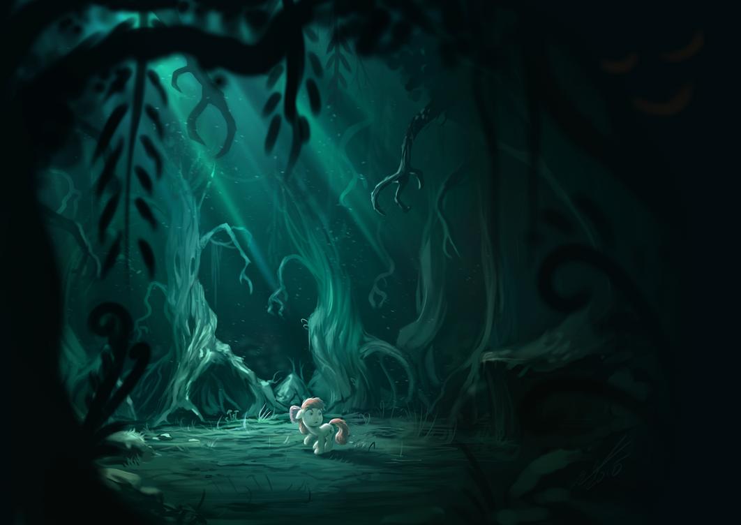 Applegloom forest by AssasinMonkey
