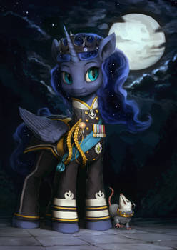 Princess Luna Military Portrait