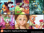 May Patron Packs - HighRes and PSD