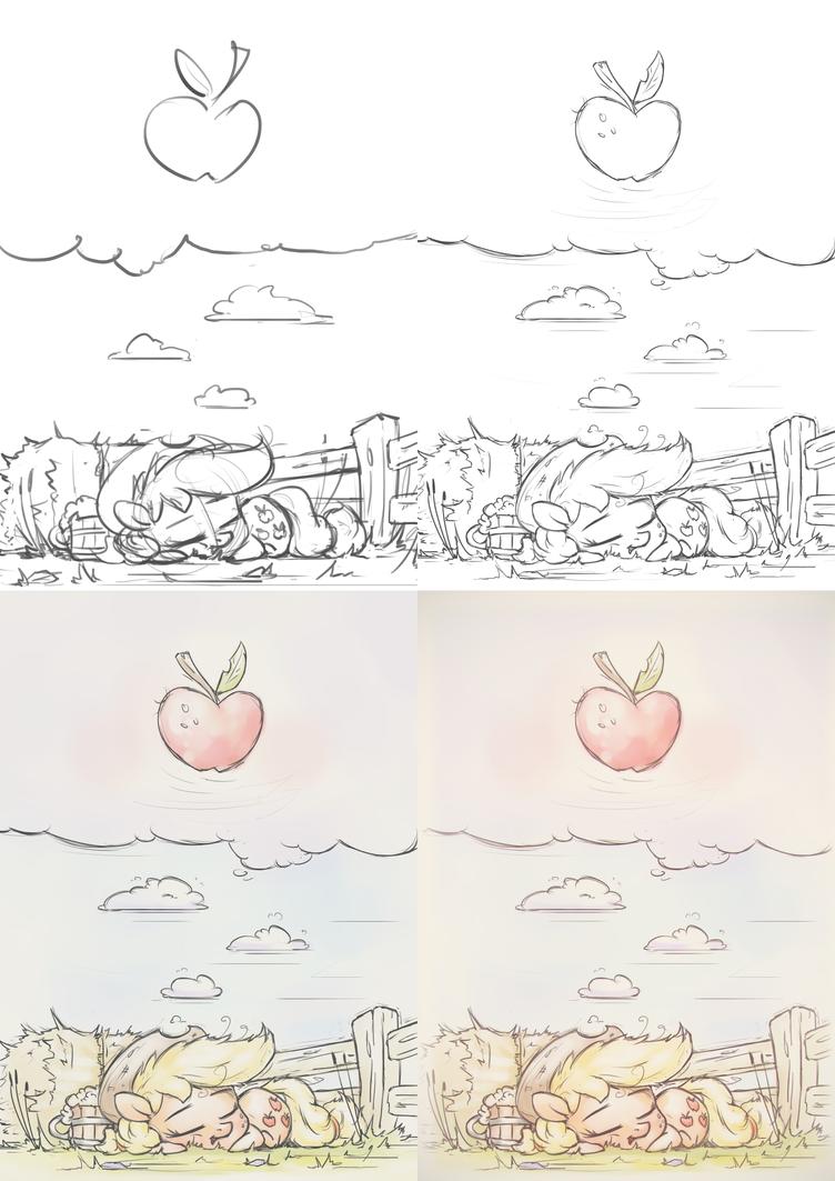 Little Apple Days [WIP] by AssasinMonkey