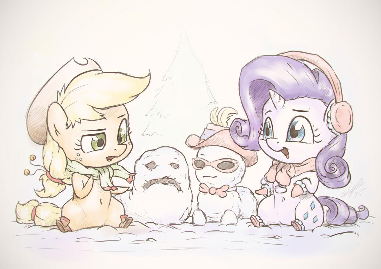 Jolly Little Snowponies