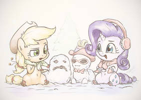 Jolly Little Snowponies by AssasinMonkey