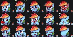 Rainbow Dash Emotes