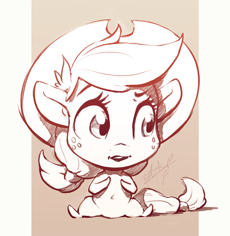 Chib chib Chibi Apple by AssasinMonkey