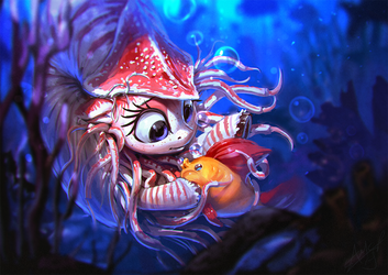 Nautila and the Bubble Fish by AssasinMonkey