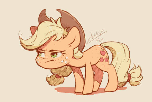 Applejack had enough of your horseplay