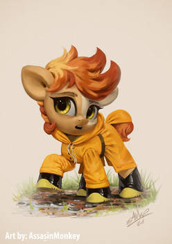 Little Flame Egg Raincoat - Commission
