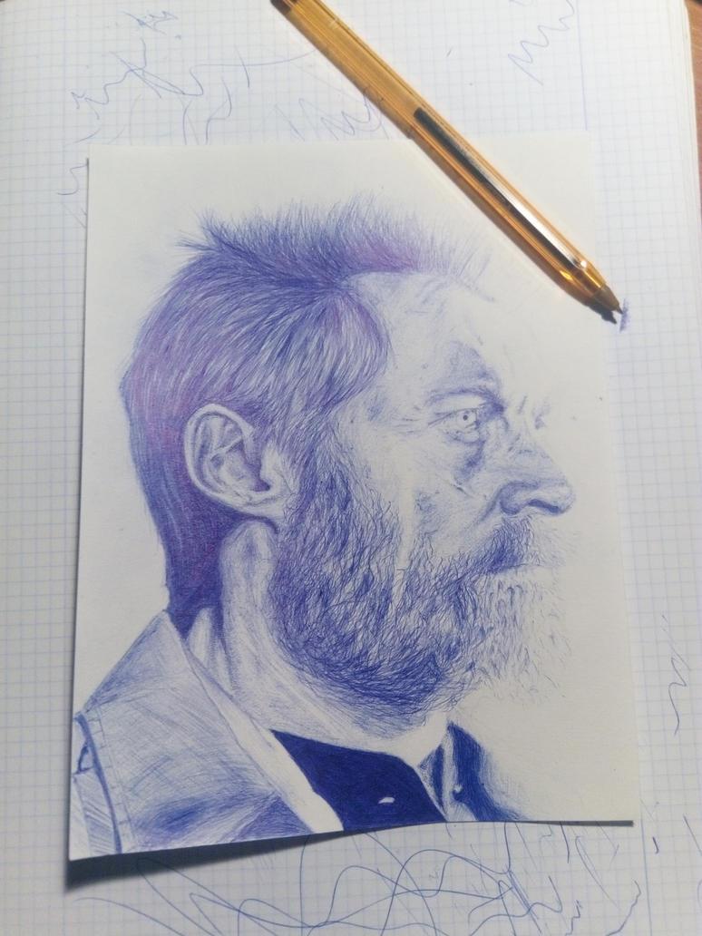 Hugh Jackman pen portrait - Logan by KirLinx