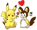 Pikachu and Emonga