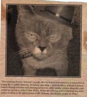 Pewter 'Paws' newspaper clip