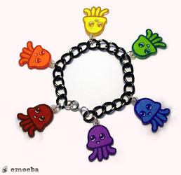 Squiddle Rainbow Charm Bracelet by Emoeba