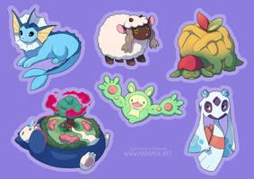 My Pokemon team by Atsuko-K