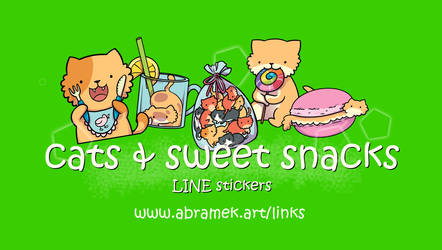 Cats and sweet snacks LINE stickers