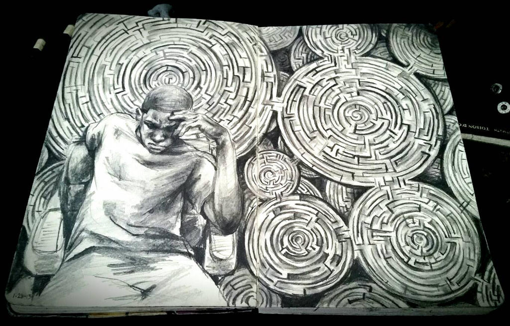 Amazing Anxiety (Moleskine Sketch) by MarcusThomas