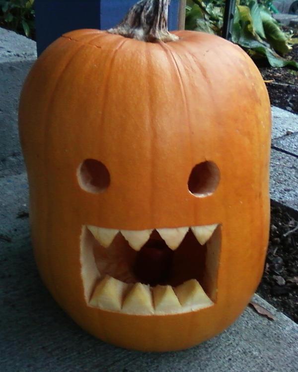 Domo Pumpkin by LordoftheFuzzys
