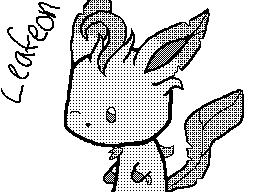 Leafeon Chibi - Flipnote DSi by LordoftheFuzzys