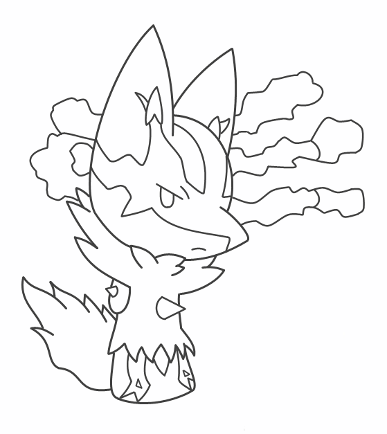 Mega Lucario Coloring Pages Coloring Pages