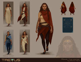 Aferah The Woman character concept by gravity-zero