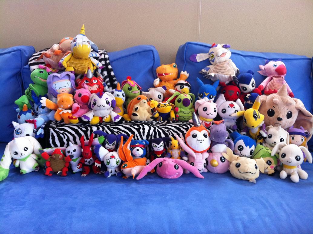 My Digimon Plushies by yinyangtigre