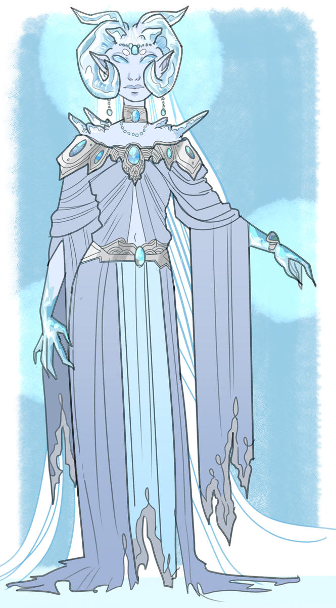 OC // Ice Goddess by galaxytxt