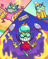 Furious Trifecta [Mario and Luigi: Superstar Saga] by Altermentality