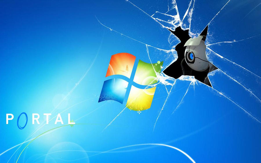 Portal 2 Windows 7 Wallpaper By JessixD
