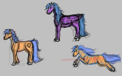 Horse Ponies by SandyFortune