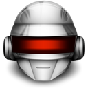 Daft Punk Silver Helmet Icon by mineboy00