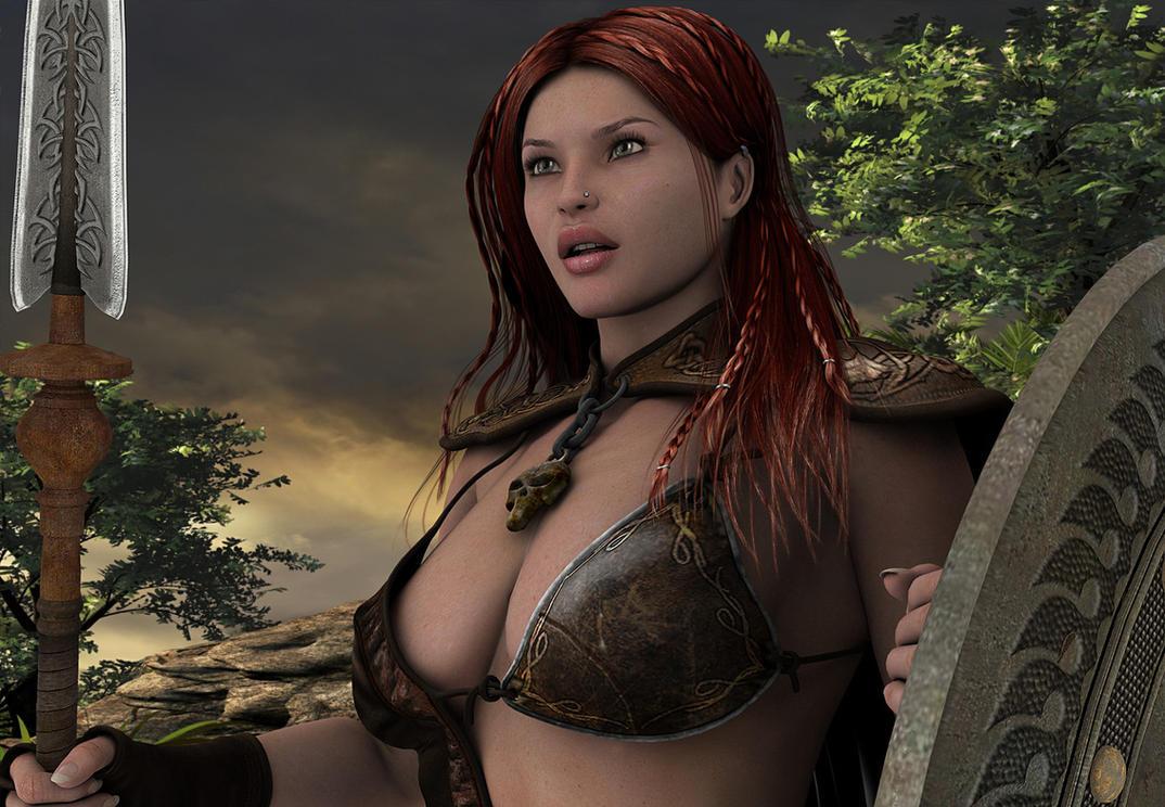 3d warrior girl down fucks photo